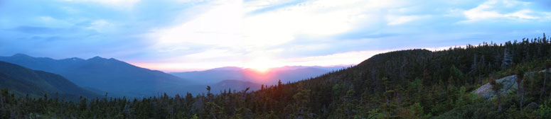 Sunset from Mount Moriah, July 2003